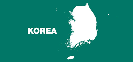 Map of Republic of Korea