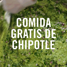 Chipotle Crew member builds a bowl with guacamole on top