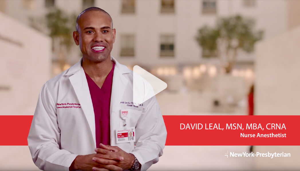 Meet David - Nurse Anesthetist (Video)