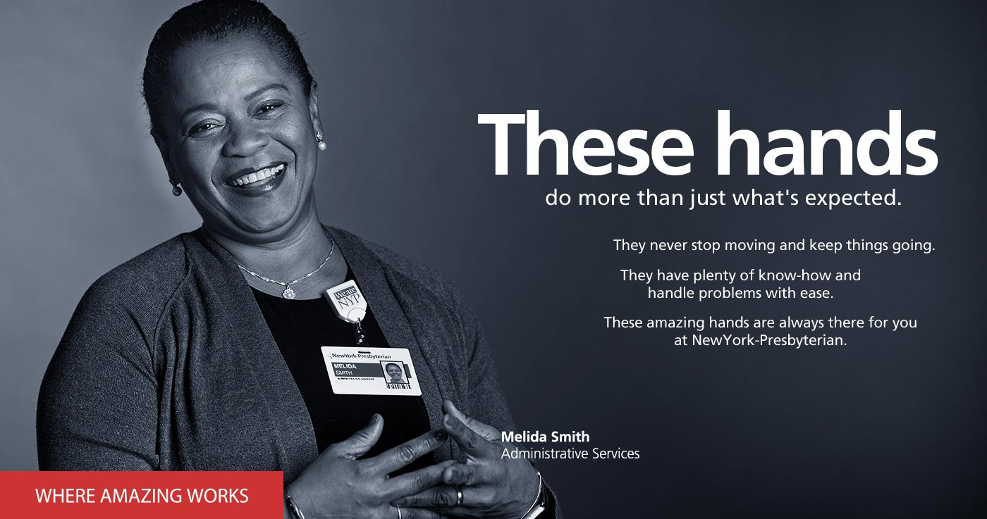 These hands do more than just what's expected. Melida Smith, Administrative Services