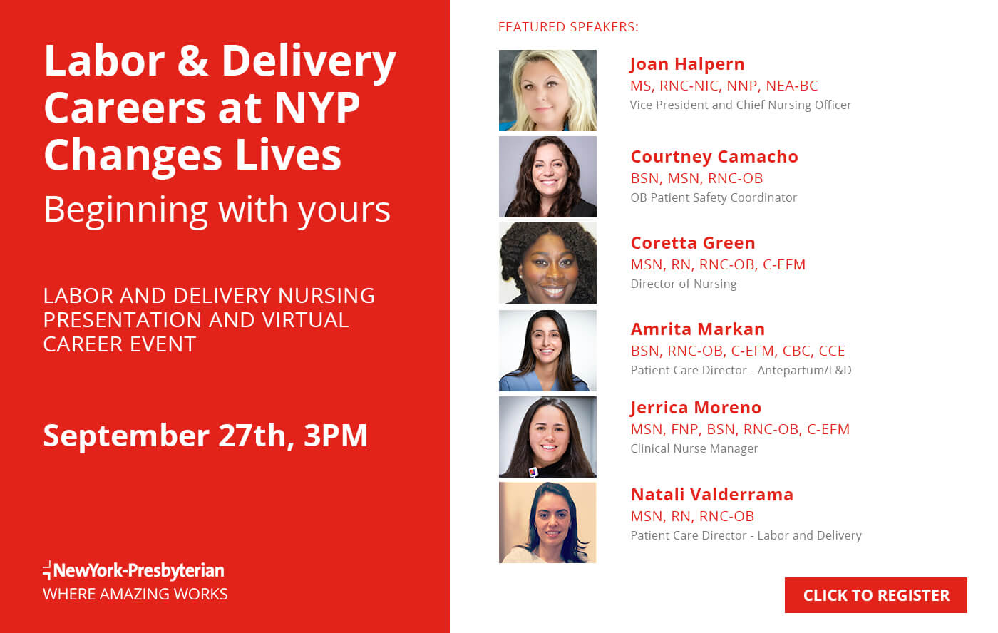 Labor and Delivery Nursing Presentation and Virtual Career Event