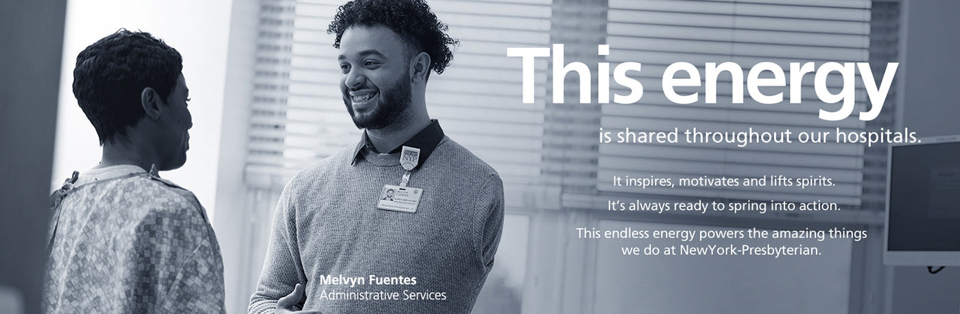 This energy is shared throughout our hospitals... Melvyn Fuentes, Administrative Services