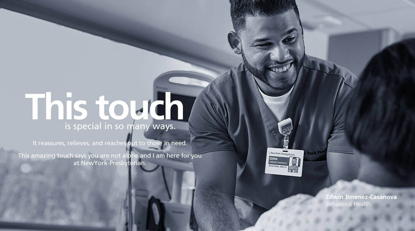 This touch is special in so many way. Edwin Jimenez-Casanova, Behavioral Health