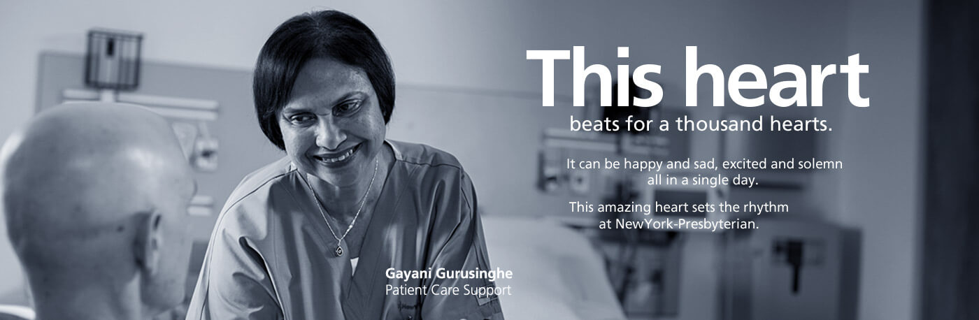 This heart beats for a thousand hearts. Gayani Gurusinghe, Patient Care Support