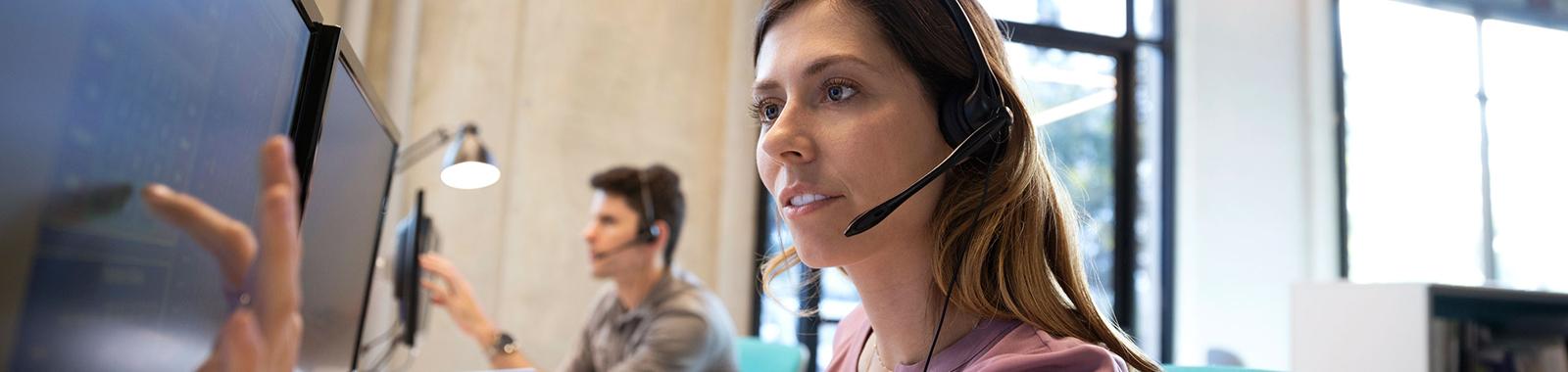 Hero Banner: Global team working in office