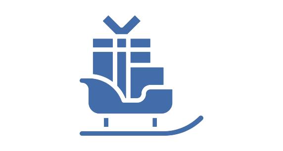 Transparent Sleigh Icon