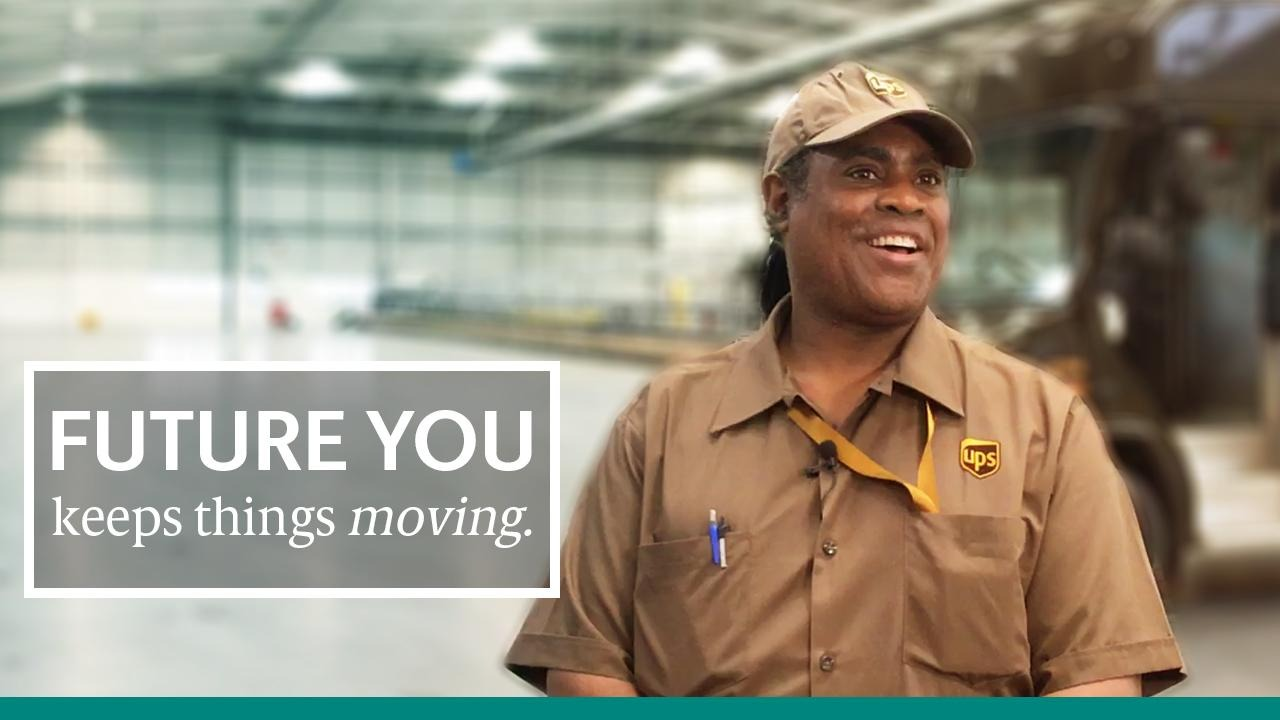 Play Video: Future you moves faster. UPS driver.