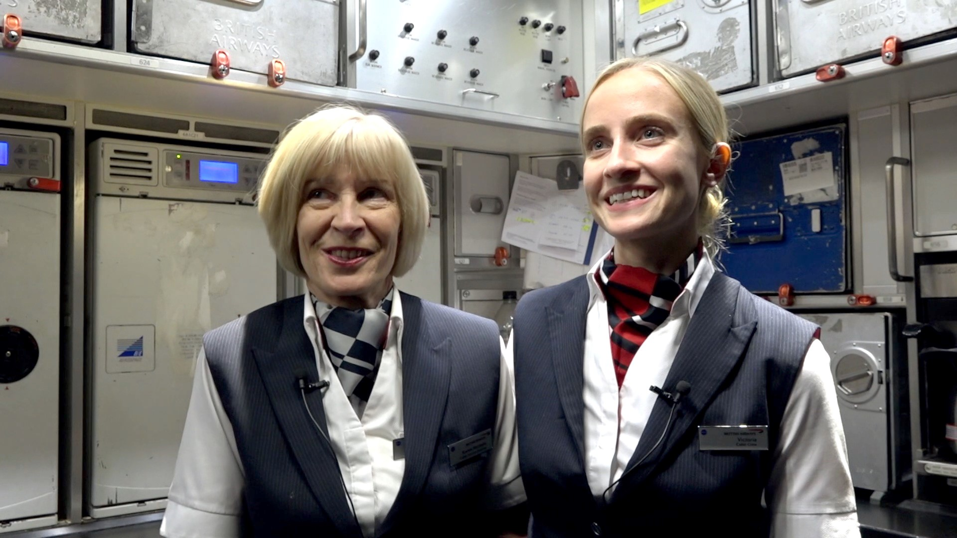 Family flight in the cabin - cabin crew