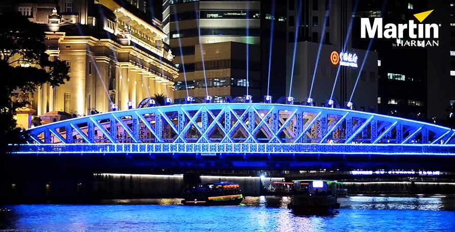Martin Lighting Transformed Anderson Bridge at iLight Singapore 2019 (Video)