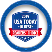 2019 USA Today Reader's Choice 10 Best award