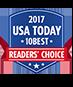 2017 USA Today 10Best Reader's Choice Award logo