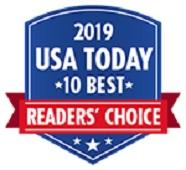 2019 USA Today 10Best Reader's Choice Award logo