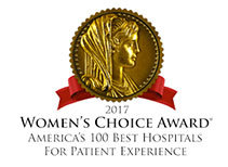 2017 Woman's Choice Award - America's 100 Best Hospitals for Patient Experience