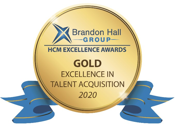 Brandon Hall Group HCM Excellence Award - Gold Excellence in Talent Acquisition 2020