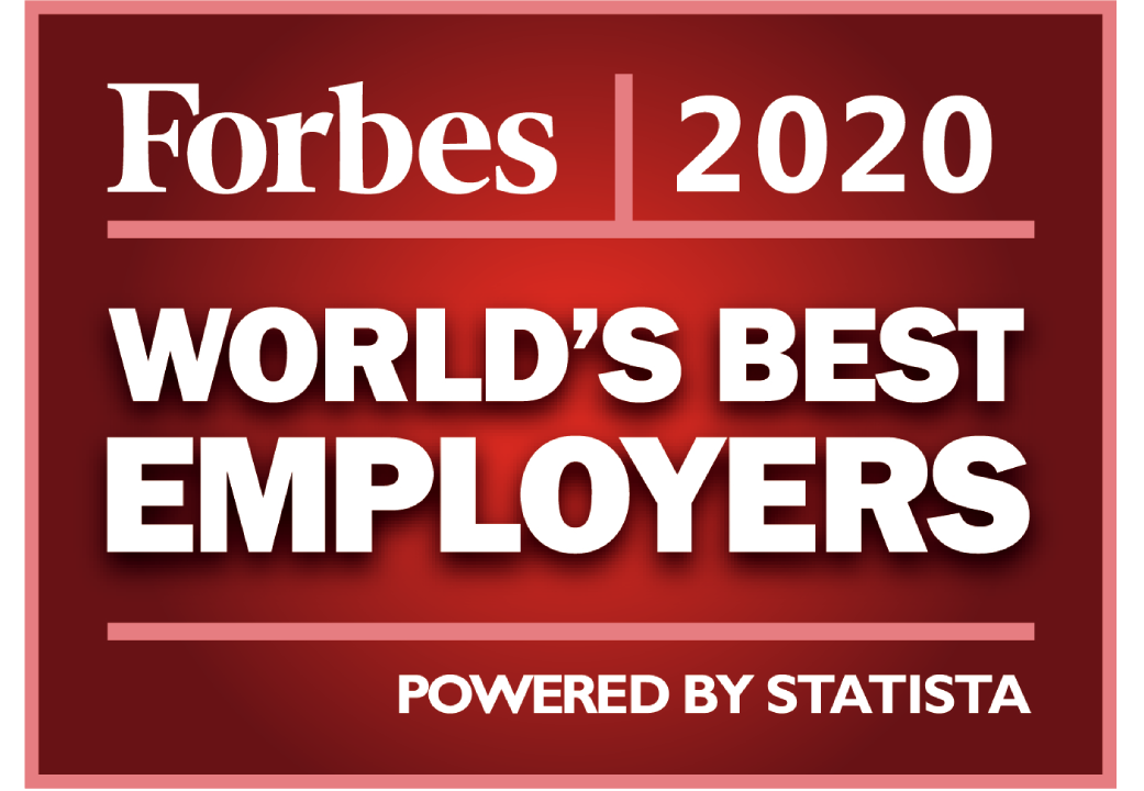 Forbes world's Best Employer 2020