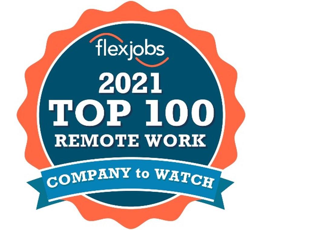 Flex Jobs 2021 Top 100 Remote Work Company to Watch