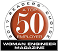 2017 Readers Choice - A Top 50 Employer - Woman Engineer Magazine