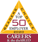 Top 50 Employer - Readers Choice 2018 - Careers & the disABLED