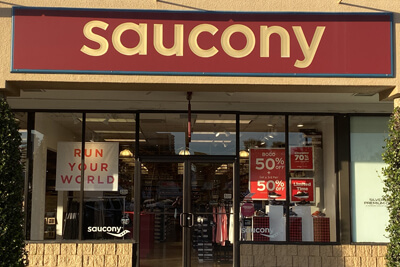 Saucony store front