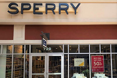 Sperry store front