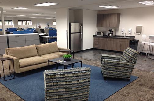 richmond office reception area