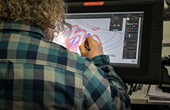 man working on a design