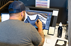 Man working on design