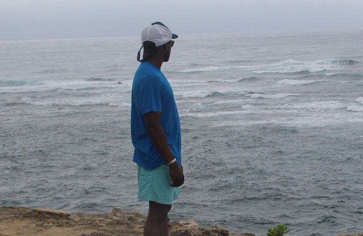 Chima looking out over the water