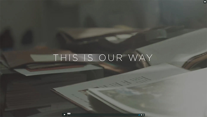This is Our Way (Video)