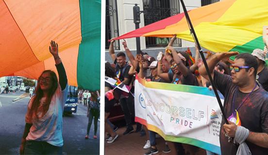 la Marcha anual del Orgullo LGBTI