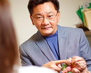 Doctor describing proceedure to patient