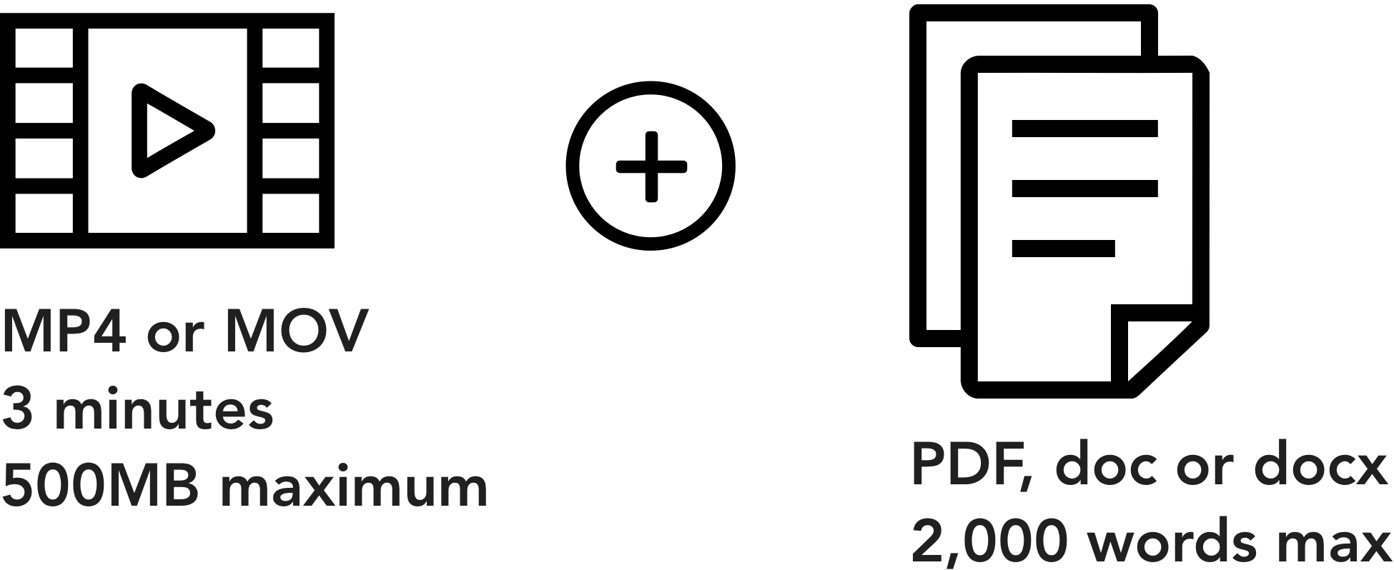 MP4, PDF icons