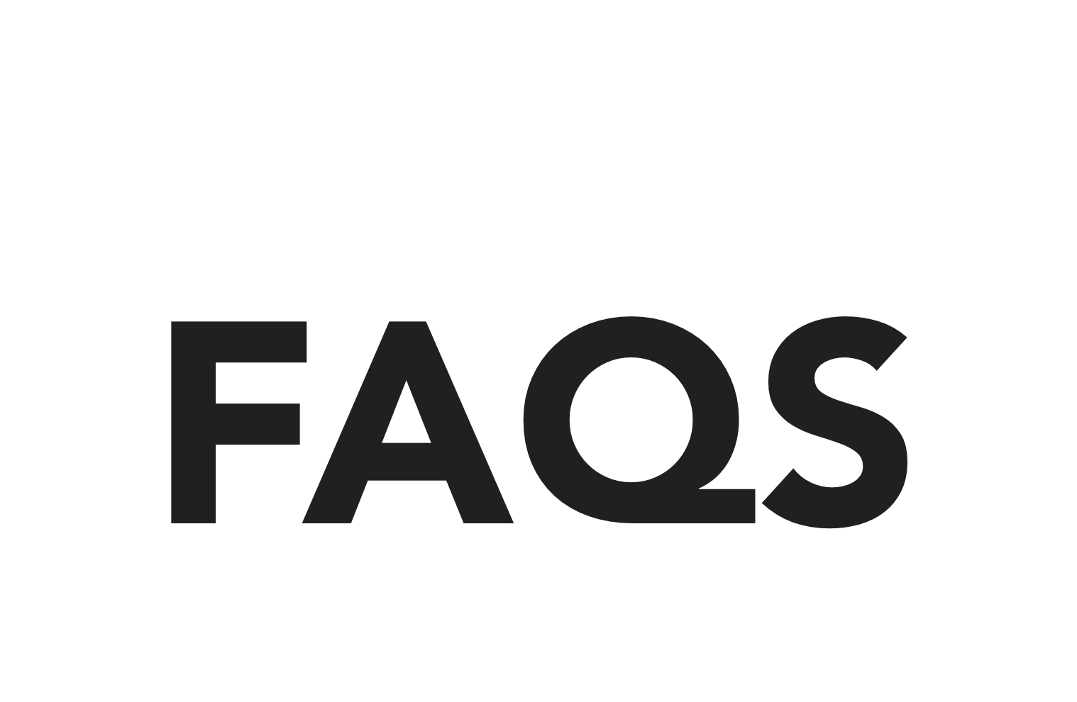 faqs text inside of octagon
