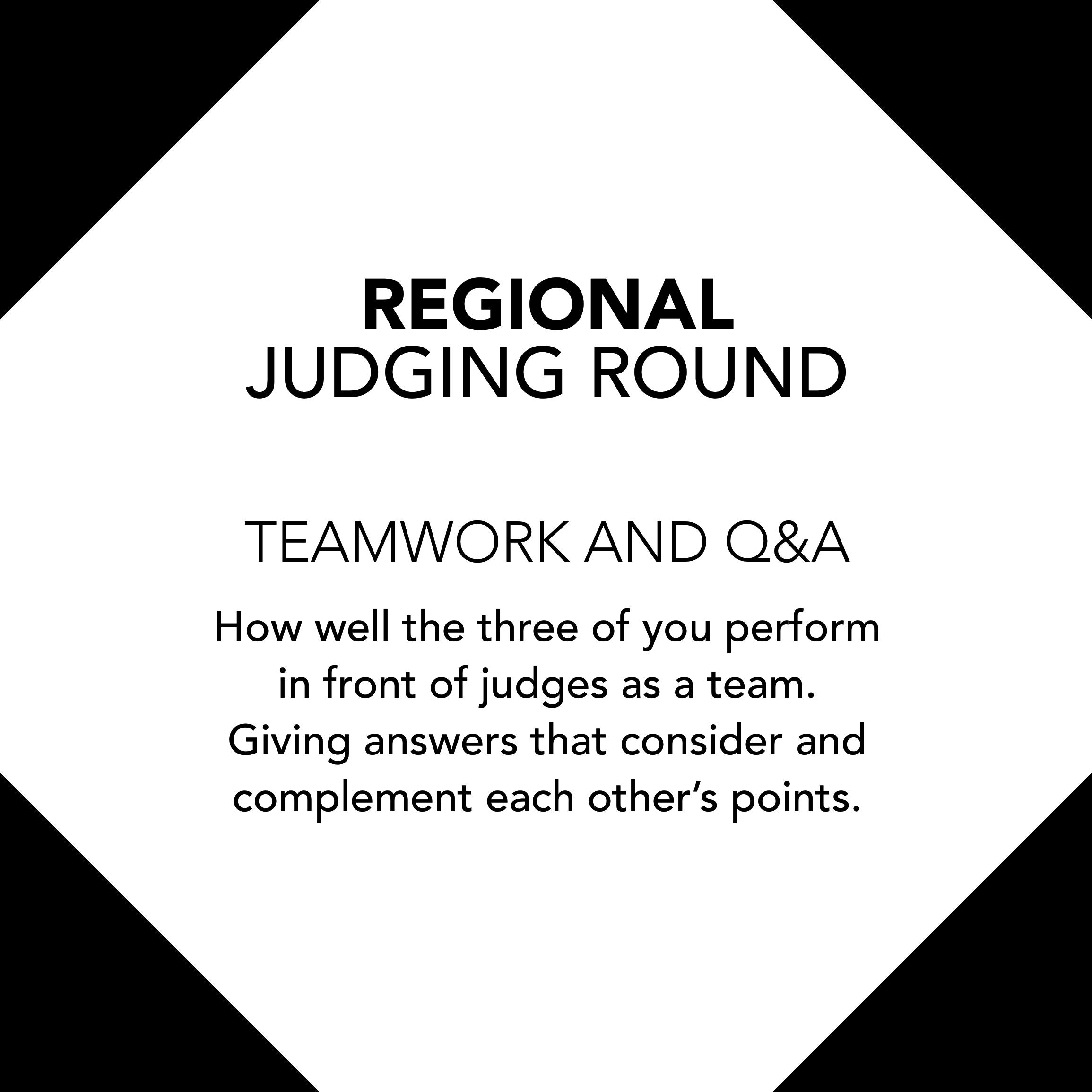 regional judging information