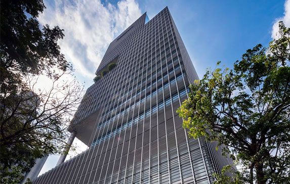 photograph of singapore office building
