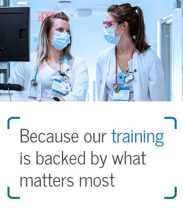 Because our training is backed by what matters most