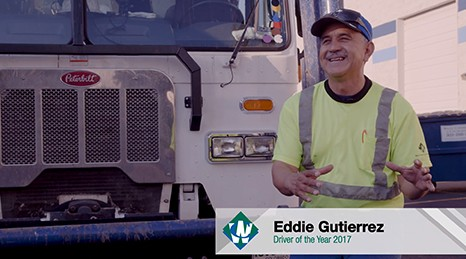 Eddie Gutierrez, Waste Connections Driver of the year 2017