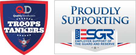 Troops to Tankers logo and Proudly Supporting  - Employer Support of the Guard and Reserve Logo