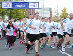 Citi employees at a 5k run