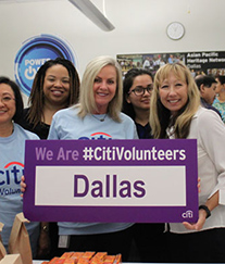 Citi employees at a volunteering event