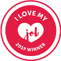 I love my job winner logo