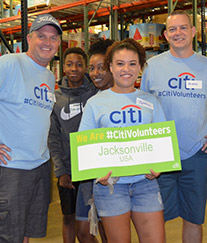 Citi Volunteers show their pride