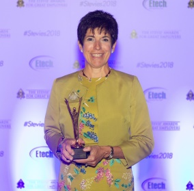 CHRO Susan wins Gold Stevie Award, which recognizes the world's best companies to work for and the HR teams behind them.