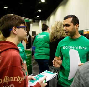 During a two-day career fair, our recruiters and volunteer colleagues were able to chat were hundreds of 8th grade students about the various careers in banking.