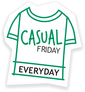 Casual friday everyday