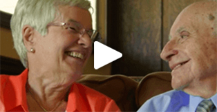 A thumbnail for a video that shows an elderly couple