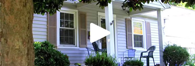 Video preview of the front porch of a house