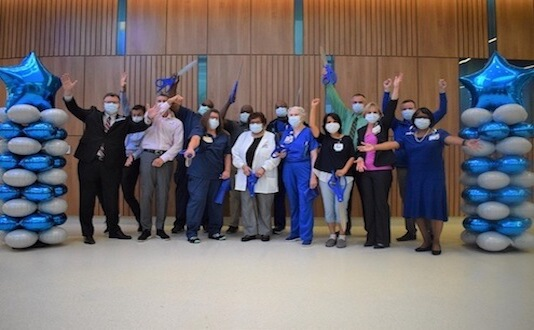 Orthopaedics and Spine Unit employees coming together as one team