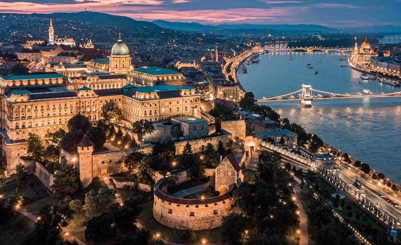 Landscape view of Hungary city