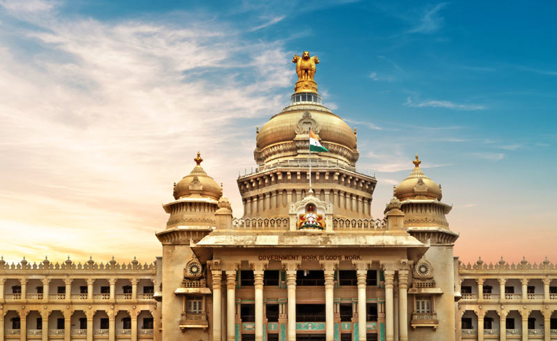 A scenic palace in India
